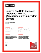 Lenovo Big Data Validated Design for IBM Db2 Warehouse on